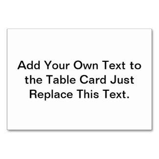 O cartão da mesa cria seus próprios