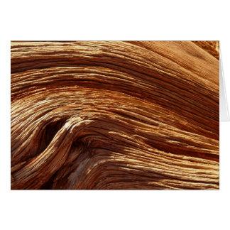 O cartão de madeira natural da grão para toda a