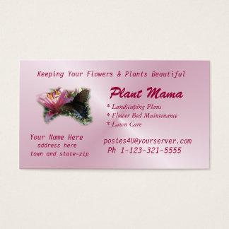 O cartão de negócio da borboleta & do lírio