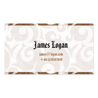 O cartão de visita artístico profissional