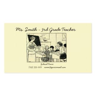 O cartão de visita da imagem do professor do