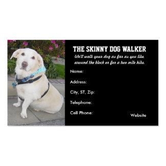 O cartão de visita do caminhante do cão