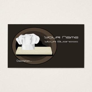 O cartão de visita do cozinheiro chefe