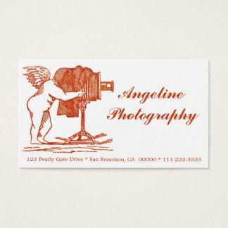 O cartão de visita do fotógrafo do