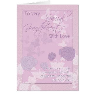 O cartão do dia das avós - rosa, borboletas e