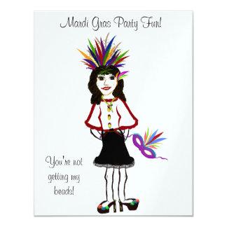 O cartão do divertimento do partido do carnaval convite