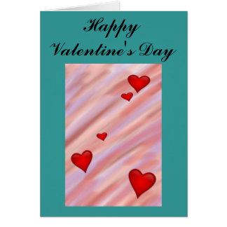 O cartão dos namorados de flutuação dos corações