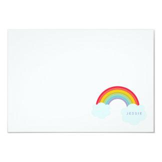 O cartão liso do arco-íris retro caçoa artigos de