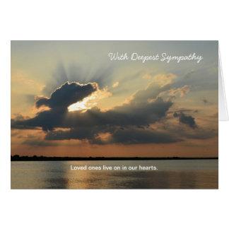 O cartão o mais profundo da simpatia da morte