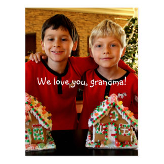 O cartão original personalizado para a avó cartão postal