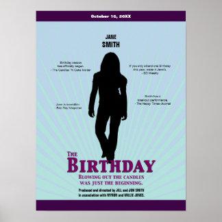 O cartaz cinematográfico do aniversário (menina) pôster