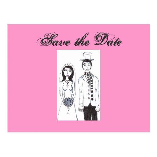 O casamento assustador cartoes postais