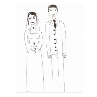 O casamento clássico cartão postal
