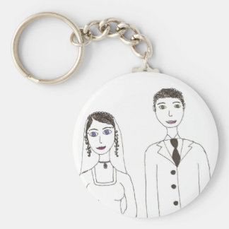 O casamento clássico chaveiro