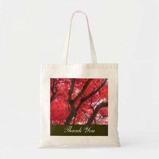 o casamento da árvore de bordo vermelho da queda sacola tote budget