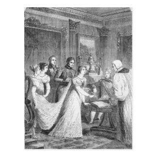 O casamento da princesa Charlotte de Cartão Postal