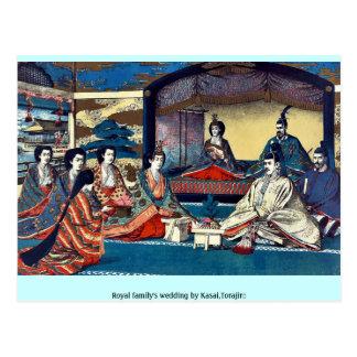 O casamento de família real por Kasai, Torajirō Cartões Postais