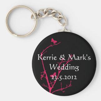 o casamento do rosa quente e do preto favorece o chaveiro