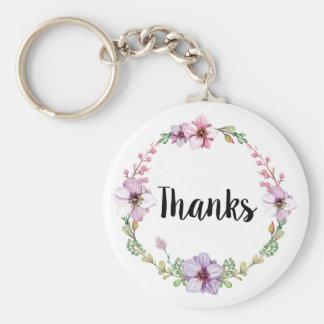 O casamento floral agradece ao chaveiro