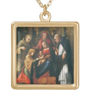 O casamento místico do santo Catherine Pingente
