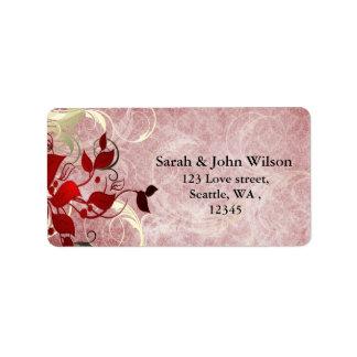 o casamento no inverno vermelho deixa a etiqueta etiqueta de endereço