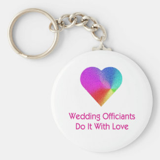 O casamento Officiants fá-lo com amor Chaveiro