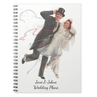 O casamento planeia o livro retro do jornal do cadernos