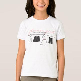 O casamento veste (noiva & noivo) o florista camiseta