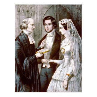 O casamento - votos cartão postal