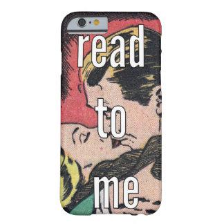 O caso CÓMICO | do iPhone 6 leu-me (o vermelho) Capa Barely There Para iPhone 6