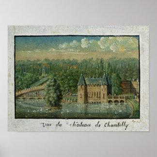 O castelo de Chantilly Poster