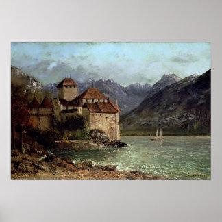 O castelo de Chillon, 1875 Posters