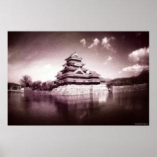 O castelo de Matsumoto, Japão Impressão