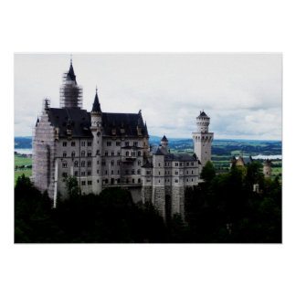 O castelo de Neuschwanstein Pôster