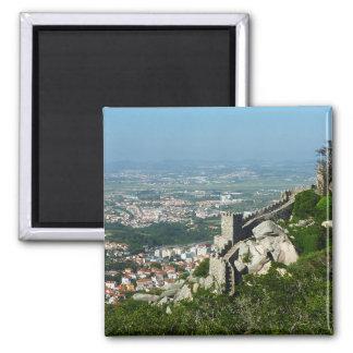 O castelo de Sintra do amarra o ímã Ímã Quadrado