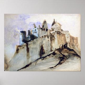 O castelo de Vianden, 1871 Poster