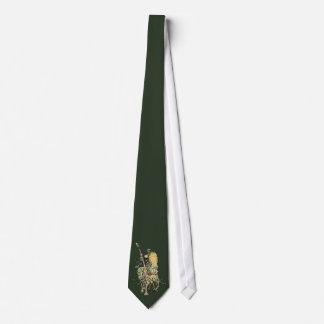 O cavaleiro floral decorou a flor do dente-de-leão gravata