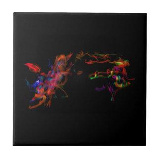 O cavalo do fogo contra o dragão do arco-íris azulejos de cerâmica