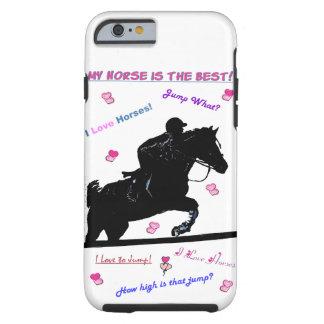 O cavalo Doodles o caso do iPhone 6 Capa Para iPhone 6 Tough