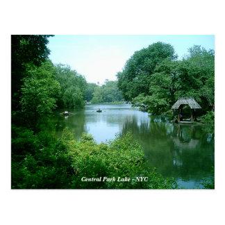 O Central Park do lago - Nova Iorque Cartão Postal