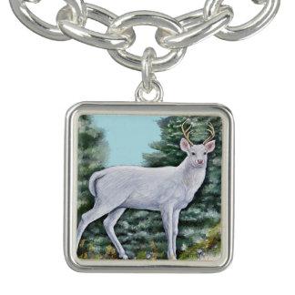 O cervo de Frost Bracente Com Charm