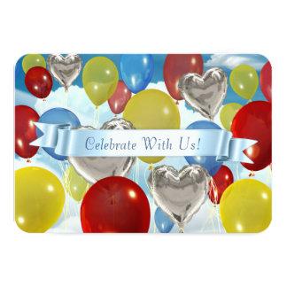 O céu arredondado Balloons convites customizáveis