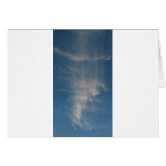 O céu azul de queda drapeja cartão comemorativo