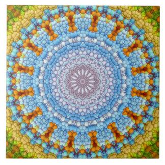 """""""O céu dentro"""" do azulejo da mandala"""