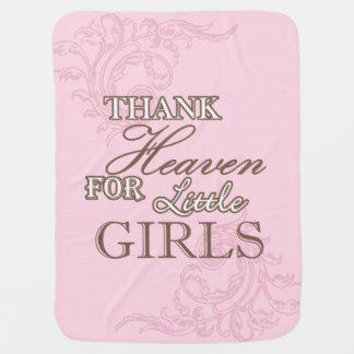 O céu do obrigado para as meninas Swaddle a Cobertor Para Bebe