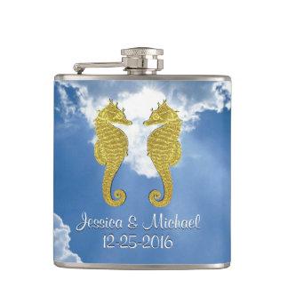 O céu dos cavalos marinhos do ouro personaliza cantil