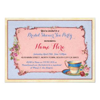 O chá de panela Bachelorette do tea party convida Convite 12.7 X 17.78cm
