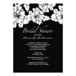 O chá de panela floral preto & branco na moda conv convite personalizado