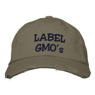 O chapéu afligido Embroadered de GMO da etiqueta Boné Bordado