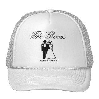 O chapéu do casamento do noivo boné